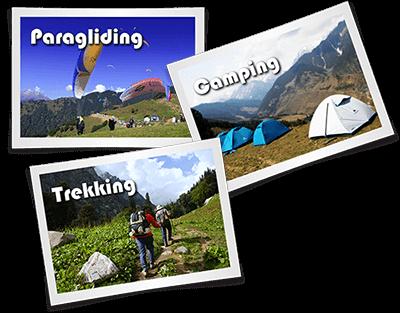 Paragliding, Camping & Trekking Activities